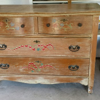 hand painted dresser inherited from my aunt