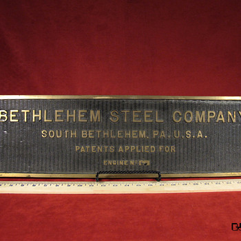 Bethlehem Steel Engine Plate