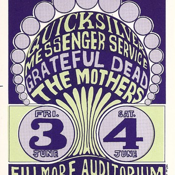 Quicksilver, Grateful Dead, the Mothers, BG-009-RPC-B