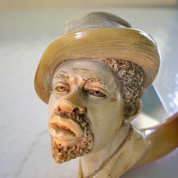Meerschaum pipe head of Af American