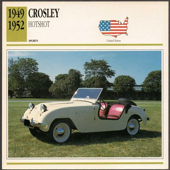 Vintage Car Card - Crosley Hotshot - Cards