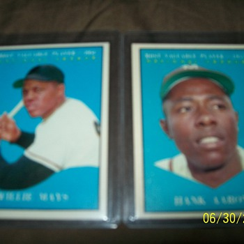 1961 Topps MVP Willie Mays & Hank Aaron