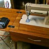 1951 Singer 301 Sewing Machine with Cabinet/table