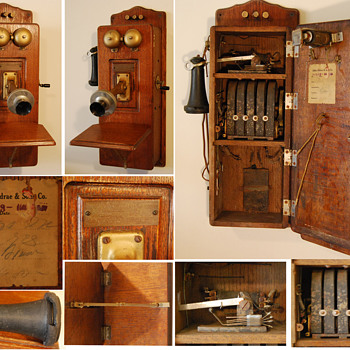 Julius Andrae & Sons Wall Phone  - Telephones
