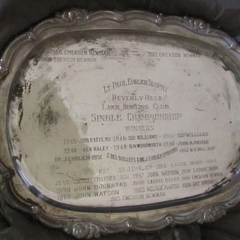 Silver presentation tray Beverly Hills