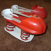 1950s metal satellite jumping shoes