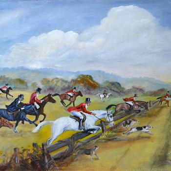 Fox Run Painting - Visual Art