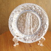 Clear blue floral plate