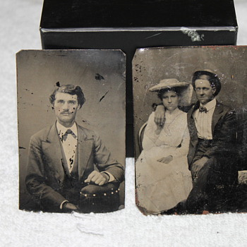 Two small tintypes - Photographs