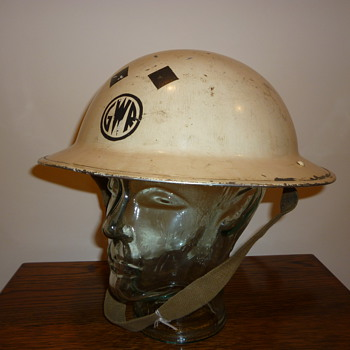 British WWII Railways Senior Official/Warden steel helmet. - Military and Wartime