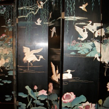 Two sided Chinese Lacqueur panel