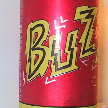 Buzz Cola can from 2007 - Advertising