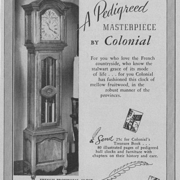 1950 Colonial Clock Advertisement - Advertising
