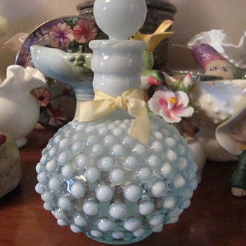 Wrisley Hobnail Cologne bottle by Fenton - Bottles