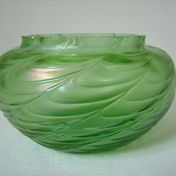 Art Nouveau Kralik Draped Bowl - Art Glass