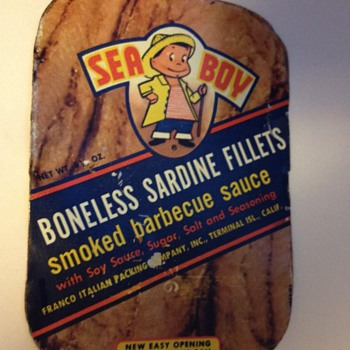 Very scarce sardine can lid..... - Advertising