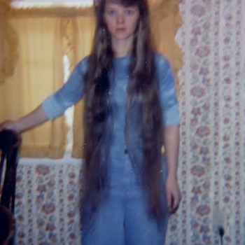 Hair style in the 70's :-) I just was missing head band  - Photographs