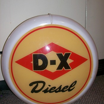 D-X Diesel Glass Globe - Petroliana