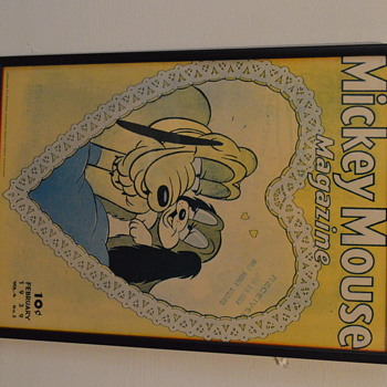 1900 AMERICAN GLASS FRAMED MICKEY MOUSE POSTER