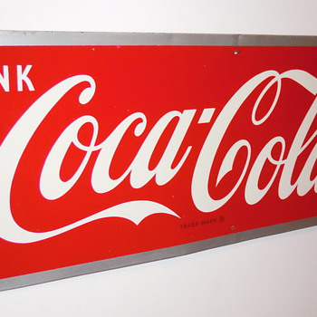 1950 Coca-Cola Sign by Maker M.C.A. - Coca-Cola