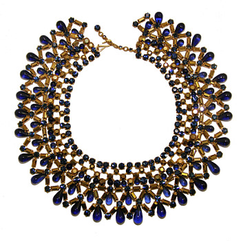 Vintage Christian Dior Jeweled Collar - Costume Jewelry
