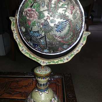 LARGE CLOISSONNE CHINESE ORNAMENT