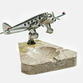 Dedicated Desk Airplane Ashtray - Tobacciana