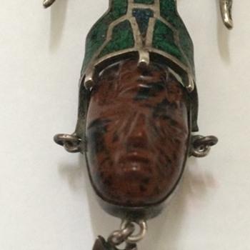 Vintage Mexico Silver Pendant/Pin