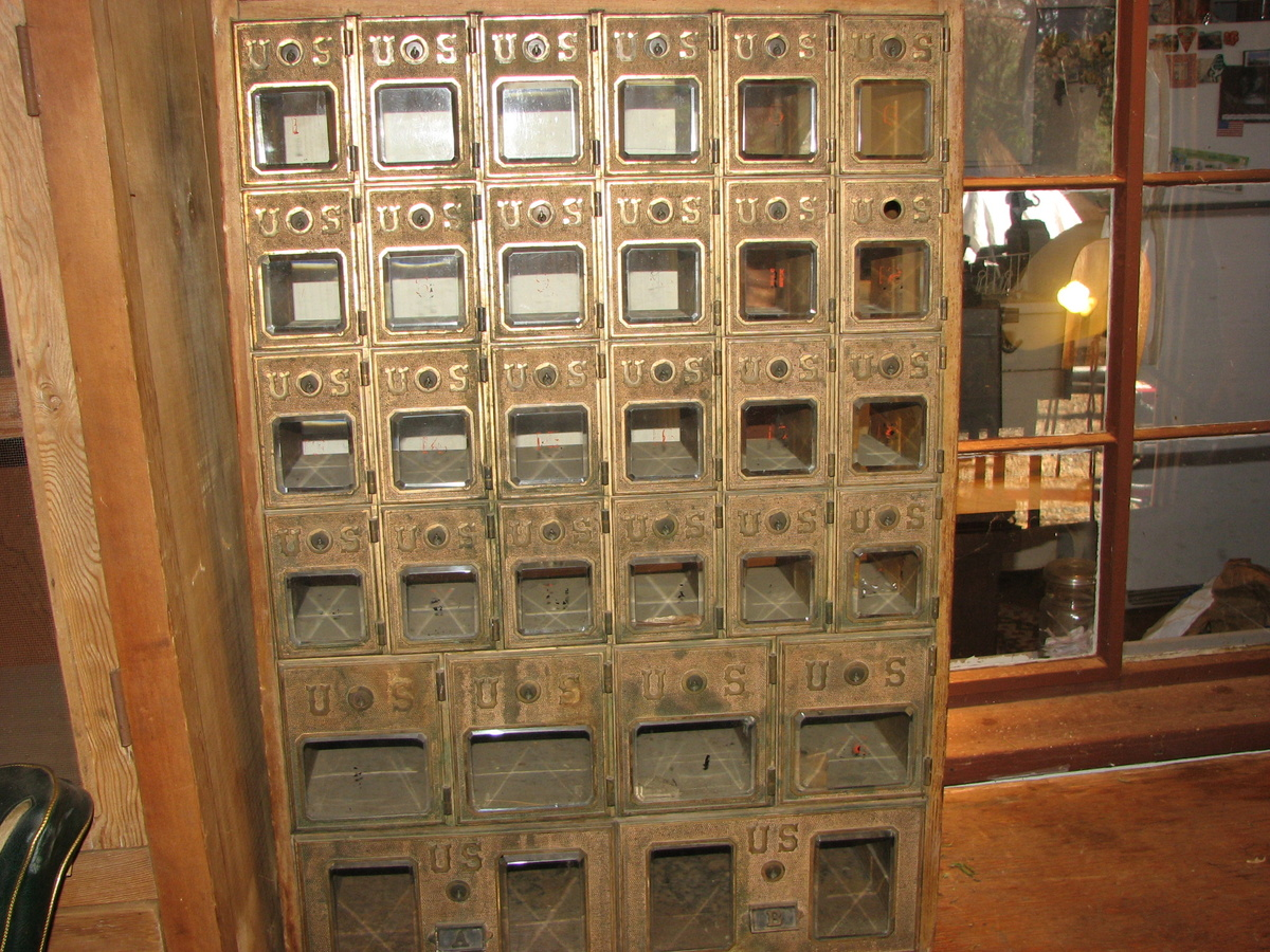 Antique USPS Postal Boxes Brass And Dovetailed