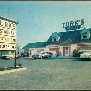 Turk's Bar & Restaurant Postcard