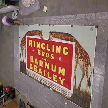 Original circus poster/billboard