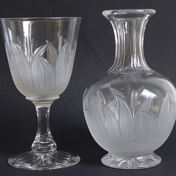 Frosted Goblet and Carafe - Glassware
