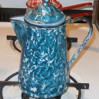 Graniteware Green/Crysolite Coffee Pot - Kitchen