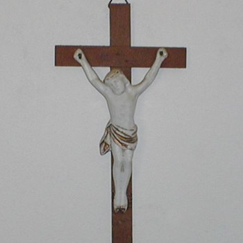 Catholic Cross - Porcelain