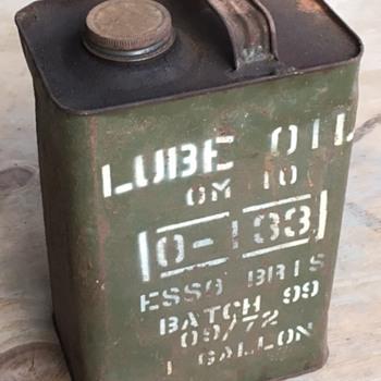 Esso 1 Gallon Oil Can Australian Army Issue - Petroliana