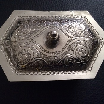 Vintage silver Jewell box