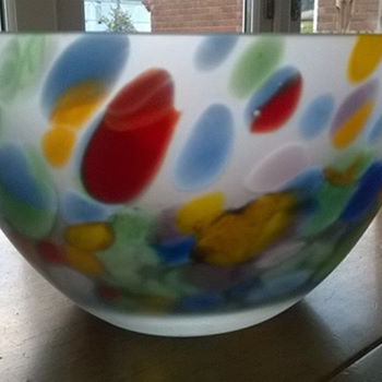 Multi Coloured Glass Bowl, Gorgeous :)