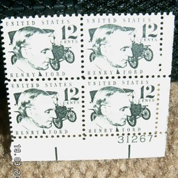 1968 Henry Ford & Model T 12 Cents Stamps
