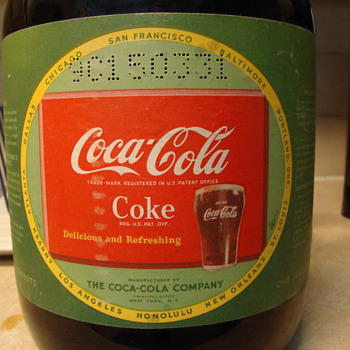 Coke syrup Duraglass jar, still filled 