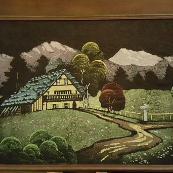 House and Mountain Scene  - Visual Art