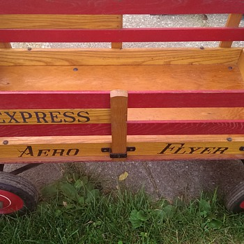 Aero Flyer Express all original wooden wagon 1950