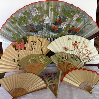 Old Asian fan collection - Asian