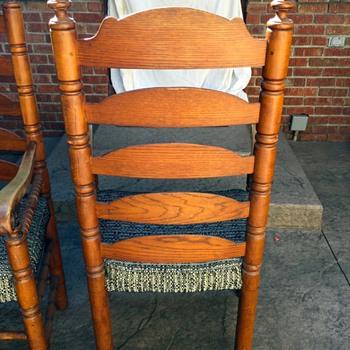 Vintage Ladder Back Chairs  - Furniture