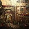 Old Orientalist Painting Algiers Casbah? Can't Find A Signature - Any Guesses?