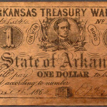 Confederate Currency - Novelty Note (Arkansas) - US Paper Money