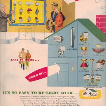 1950 Moe Lighting Advertisement - Advertising