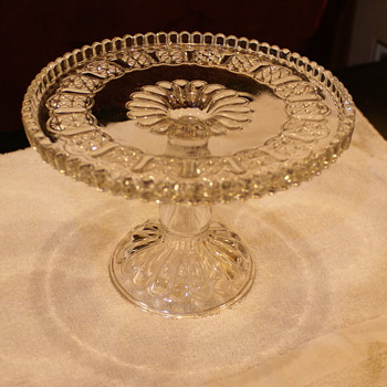 EPAG Cake stand unknown exact name i think by Adams - Glassware