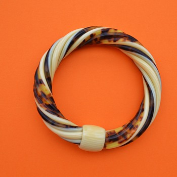 Lea Stein 1970's Twist Bangle - Art Deco