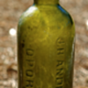 -----Old Black Glass Wine Bottle-----