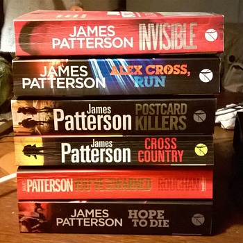Six James Patterson Novels for 5 Euro 50 Cents - My Favorite Crime Writer! - Books